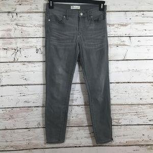 Madewell gray zipper cuff jeans